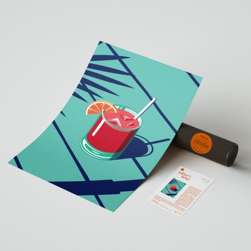 핀즐 34. Cocktail-Fresh (A1아트포스터+에디터스레터)