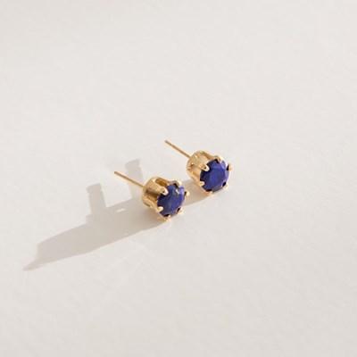 14k gf lapis earrings (14K 골드필드)