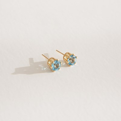 14k gf topaz earrings (14K 골드필드)