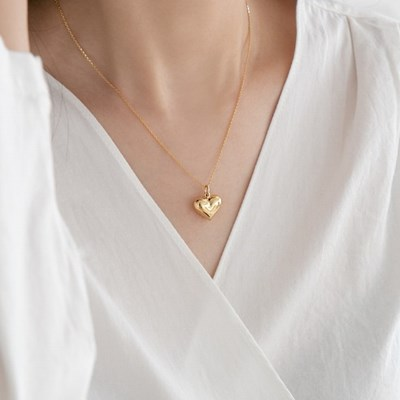 925 silver bold heart point necklace (925실버)
