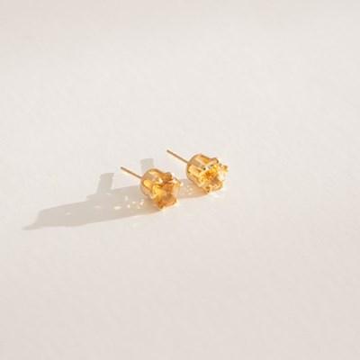 14k gf citrine earrings (14K 골드필드)