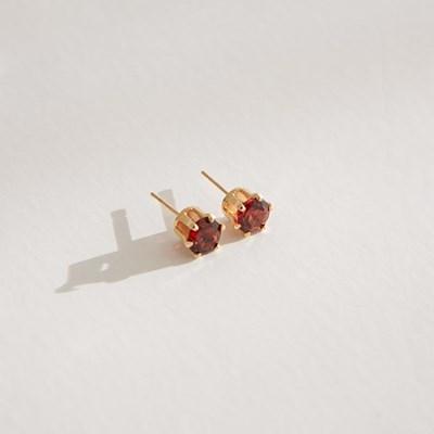 14k gf garnet earrings (14K 골드필드)