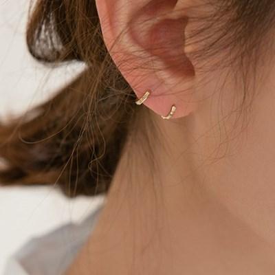 14k gold cutting mini onetouch earring (14K 골드)