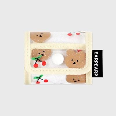 Dot cherry bear-ivory(PVC Air pods pro)_(1634703)