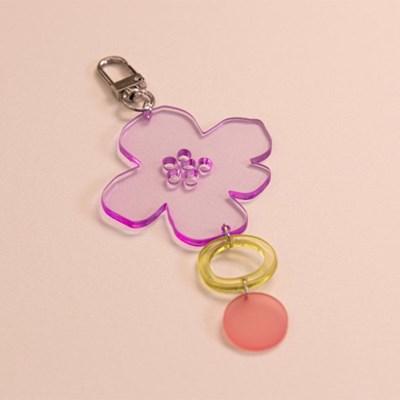 [studio riposo] 아크릴 썬 키링 Violet Flower