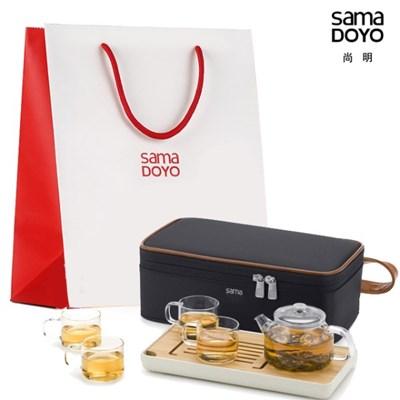 사마도요 휴대용 티포트 티세트 (4인용) L006 (정품쇼핑백)