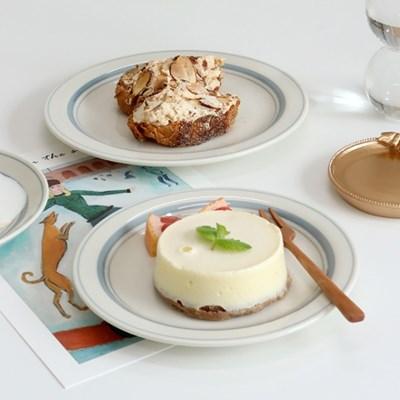 카네수즈 미스트그레이 플레이트 카페 디저트 접시