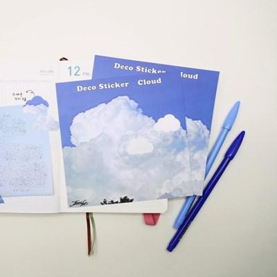[제미포티] 구름모양 데코 스티커