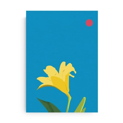 Fromsky A5 미니 포스터 (Yellow Lilly)
