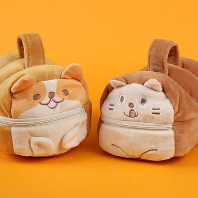 귀여운 고양이 강아지 식빵냥 식빵멍 필통 파우치_(1634011)