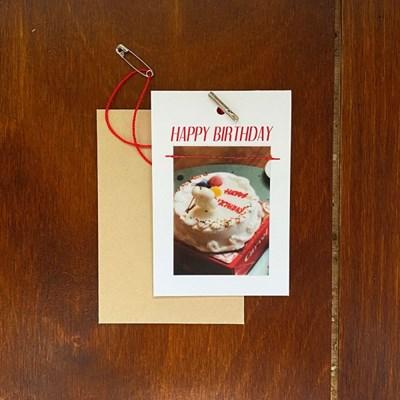 vintage birthday card 생일카드