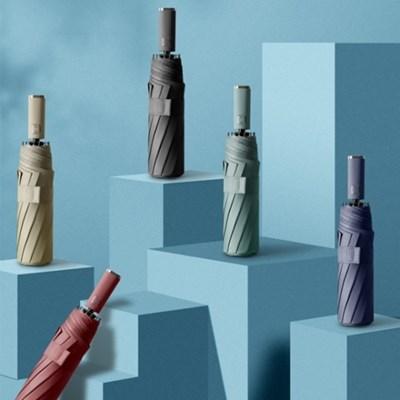10K 튼튼한 자외선 차단 3단 자동 우산 6color