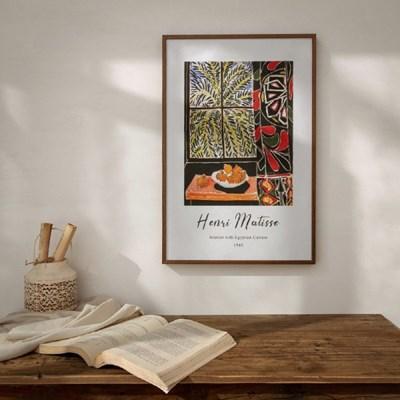 Matisse 10종 커튼이 있는 실내_(329649)