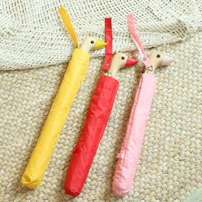 특이한 오리 우산 3color [예쁜 비둘기 2단 자동 인싸우산 엄브렐라]