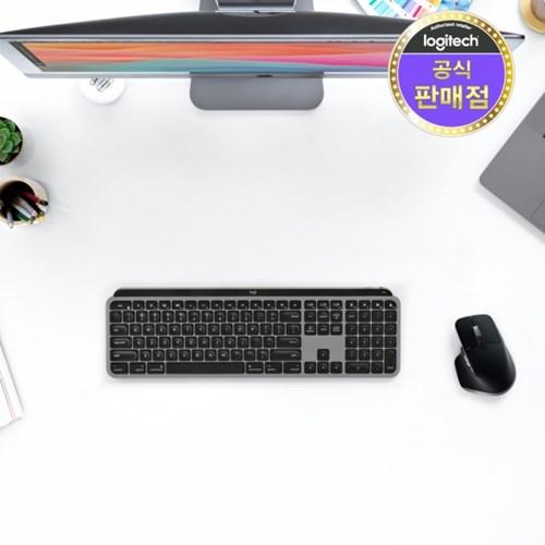 로지텍코리아 정품 MX Keys for Mac 키보드_(802586)
