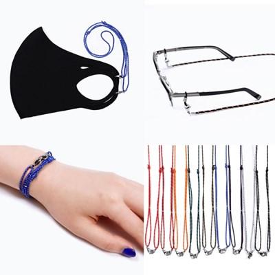 슬림스트랩 길이조절매듭 안경줄겸 마스크목걸이 (C2001_(11250116)