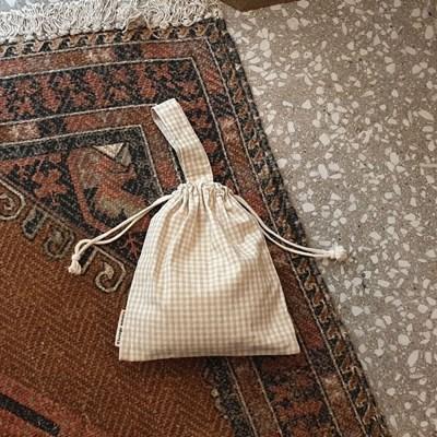 string tote bag_내츄럴체크