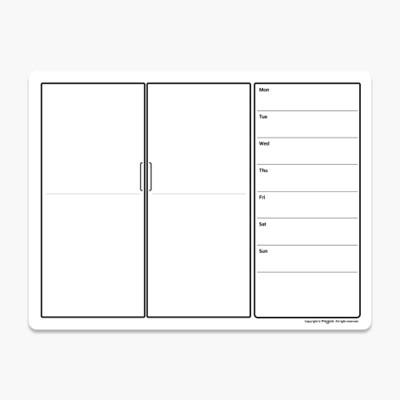[마그피아] 유리용 푸드플래너 냉장고 메모보드