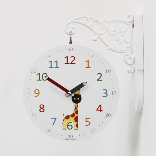 (kthx0439)교육용 양면시계(코끼리/기린)_(1064814)