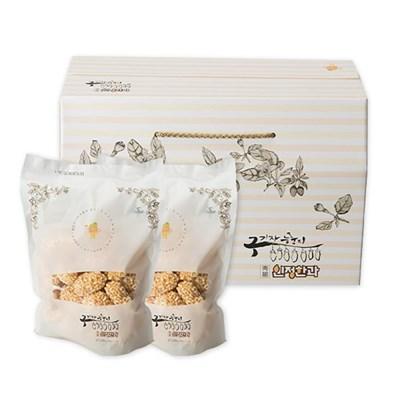 [농사랑]청양 구기자 누룽지 한과 200gx2봉 선물포장
