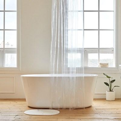 투명 샤워커튼 방수커텐 욕실 인테리어_(1354120)