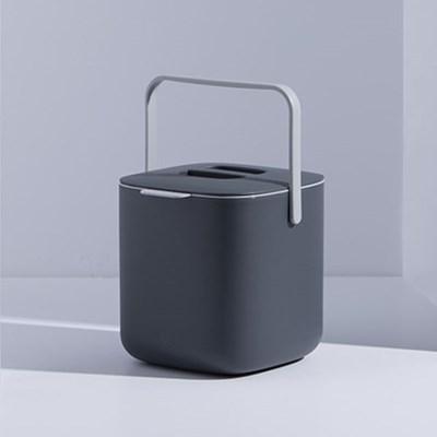 가정용 미니 사각 음식물 쓰레기통 2.6L 기본형