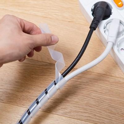 반투명 케이블 래핑 2M / 사무실 컴퓨터 인터넷 전선 정리