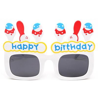 생일아이스크림안경-화이트