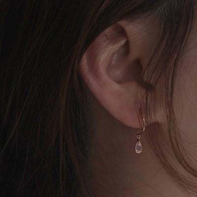 RAINDROP rose quartz EARRING