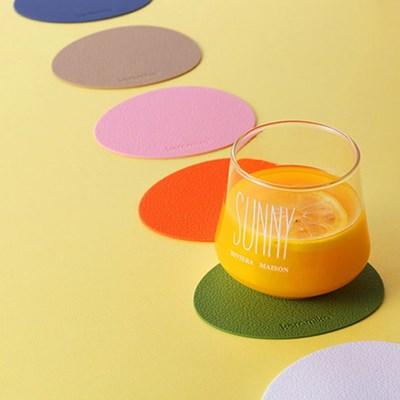 실리콘 컵받침 티코스터 오벌 4P set(13color)_(2010148)