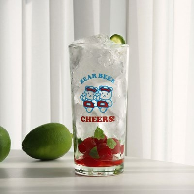 clear bear cheers long glass 435ml