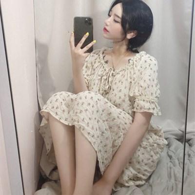 꽃무늬 원피스 잠옷 2종