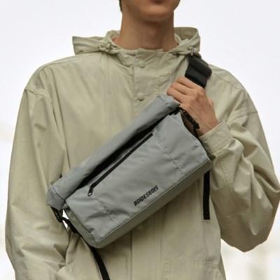 LINE ROLL-TOP RIP MESSENGER BAG (GRAY)