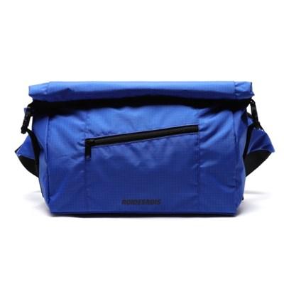 LINE ROLL-TOP RIP MESSENGER BAG (BLUE)
