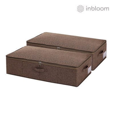 인블룸 1+1세트 언더베드 수납정리함 대형 78L 브라운_(2893296)