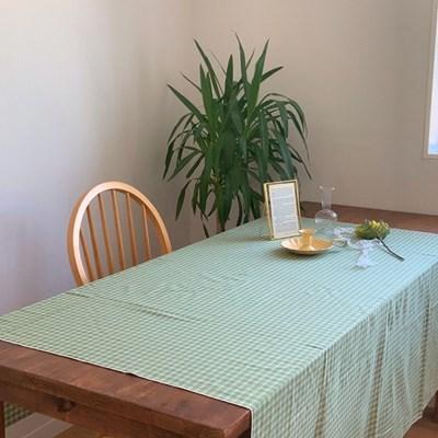 그린 체크 테이블보 식탁보 2size