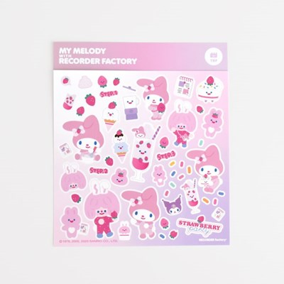 TRF x SANRIO STICKER - STRAWBERRY PARTY