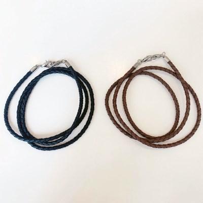 [4개세트][2color] 튼튼 가죽 레더 매듭 마스크 목걸이 스트랩 끈