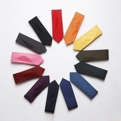 코튼 비비드 넥타이 수동 슬림 기본 면타이 necktie 13 color