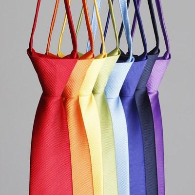 선명한 비비드 넥타이 자동 수동 슬림 남자 기본 necktie 13 color