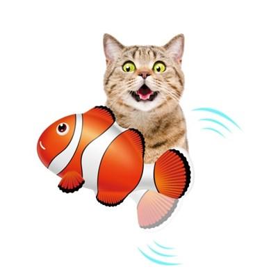 펫케어 춤추는생선 고양이용 크라운피쉬(니모)
