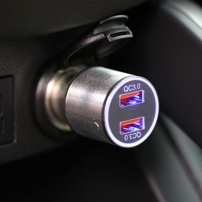 단순생활 퀄컴 퀵차지 3.0 듀얼 차량용 고속 충전기