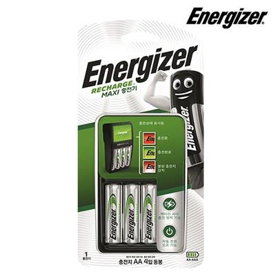 에너자이저 맥시충전기 (충전지 AA4알 포함) 건전지