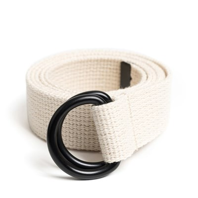 BK D-RING BELT (ivory)
