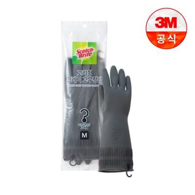 [3M]고리형 그레이 고무장갑 중_(2467294)