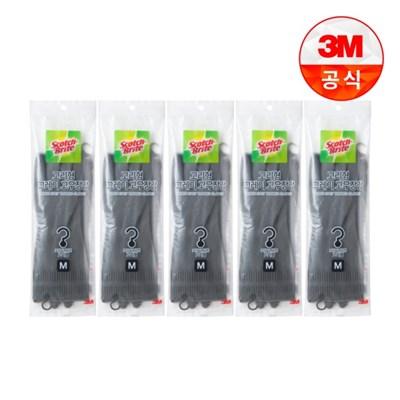 [3M]고리형 그레이 고무장갑 중 5개_(2467293)