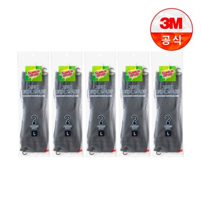 [3M]고리형 그레이 고무장갑 대 5개_(2467290)