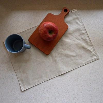 블랭크 린넨 테이블 매트 /  두겹 식탁매트 (RM 289001)
