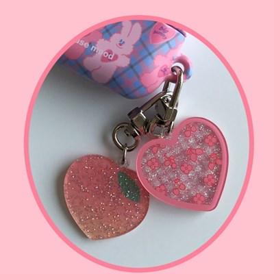 [뮤즈무드] mini peach key ring (키링)