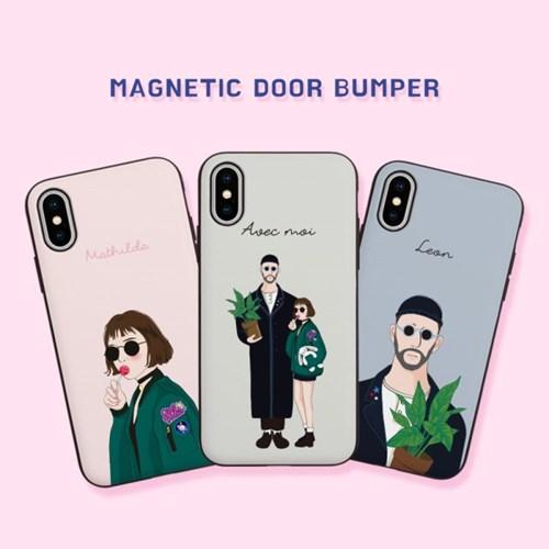 레옹과 마틸다 마그네틱 카드 도어 범퍼(아이폰 기종)